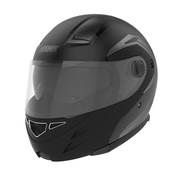 Casco Moto Hawk Rs5 Vector Rebatible Doble Visor Tienda Ofic