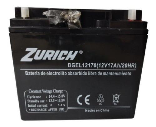 Imagen 1 de 3 de Bateria De Gel 12v 17ah Zurich Bgel12170