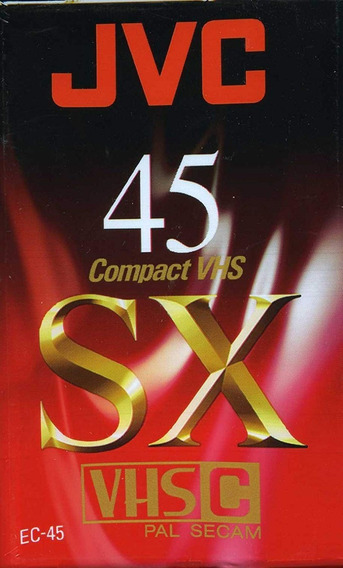 Fita Video Jvc Compact Vhs C Sx-45 Lacrada