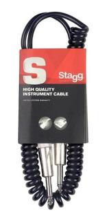 Cable Plug-plug Standard 6mm. - 3 Mts. - Rulo Stagg Sgcc-3