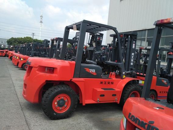 Empilhadeira Lonking Lg70 Nova Diesel 7 Ton, Torre Padrão