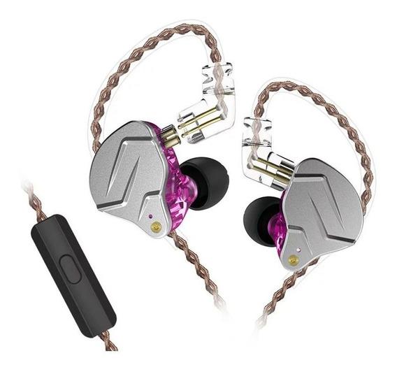 Fone Intra Auricular Kz Zsn Pro Com Microfone