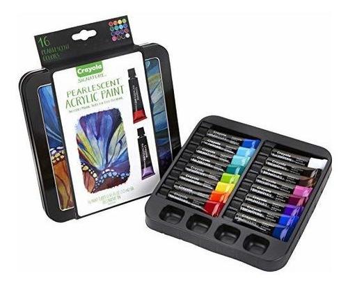 Imagen 1 de 7 de Crayola Firma Juego De Pintura Acrilica Perlada De 16 Hilos