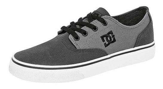 Dc Shoes Tenis Casual Caballero Gris Textil Flash Btk04216