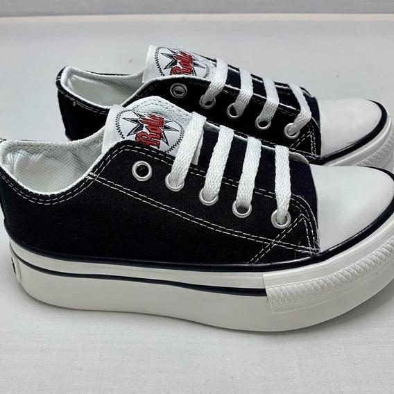 Zapatillas De Lona Plataforma Moda Infantil !! Talle 27/34