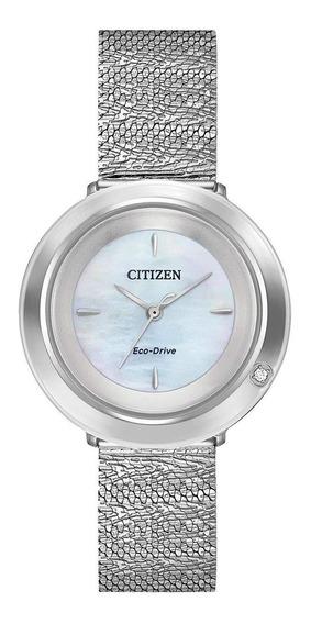 Relógio Citizen Eco-drive Ambiluna Diamond Ladies Silver