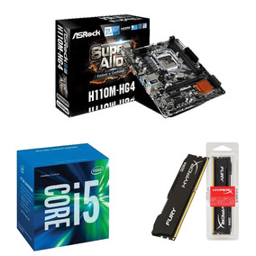 Kit Pc Intel I5 7400 3.0ghz + Asrock H110m + 8gb 2400mhz