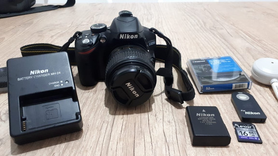 Câmera Nikon D3200 + Lente 18-55mm F3.5-5.6g Vr + Acessórios