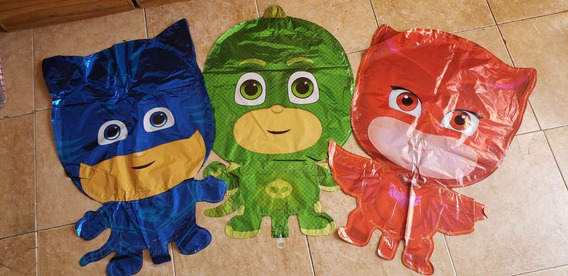 Globo 60cm Pj Masks Héroes En Pijamas Gekko Catboy Owl