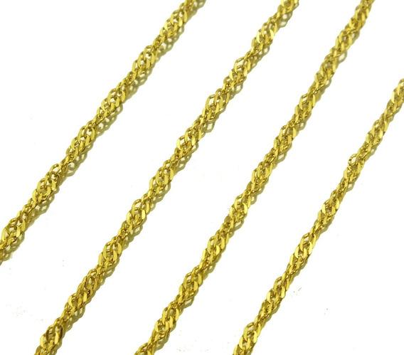 Corrente Colar Gargantilha Elo Singapura Ouro Amarelo J20303
