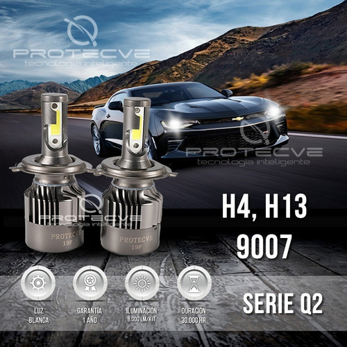 Luces Led Para Vehículo: H4, H13, 9004 Y 9007