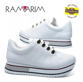 Tênis Sola Alta Ramarim Branco 100% Original