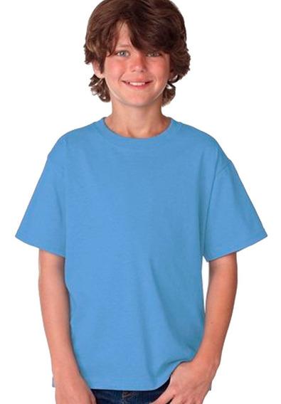Remera Lisa Juvenil -100% Algodón - Todos Los Colores