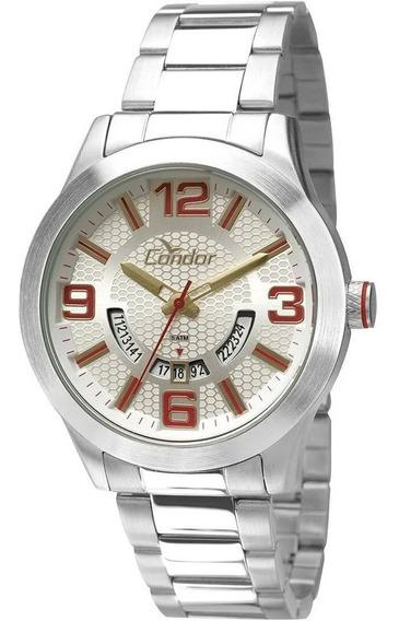 Relógio Masculino Condor Co2115uv/k3b Kit Bracelete Couro