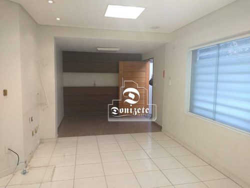 Salão Para Alugar, 150 M² Por R$ 9.000,00/mês - Jardim - Santo André/sp - Sl0125