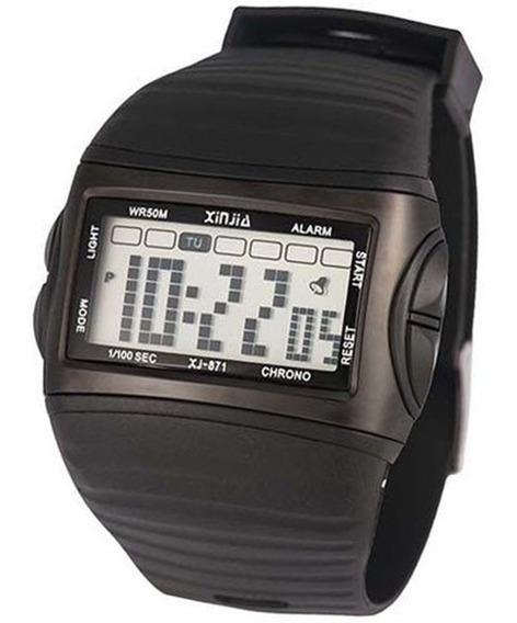Relógio Masculino Digital Xinjia-871 Preto Prova De Água