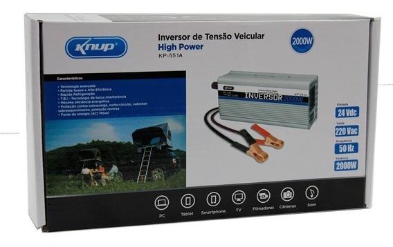 Inversor De Tensão Veicular 24v Para 220v 2000w Kp551a Knup