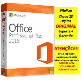 Pacote Office 2016 Pro+ Serial Vitalicia Original 25 Digitos