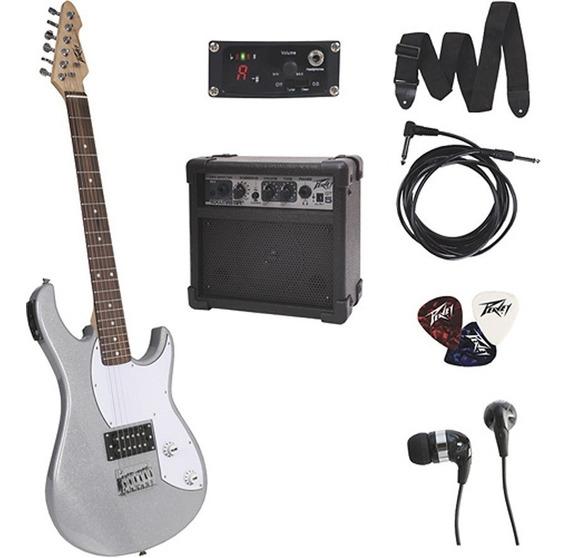 Guitarra Electrica Peavey Con Amplificador + Accesorios