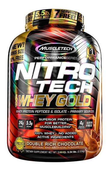 Nitro Tech Gold 2.5kg - Muscletech - 4g Glutamina P/ Dose!