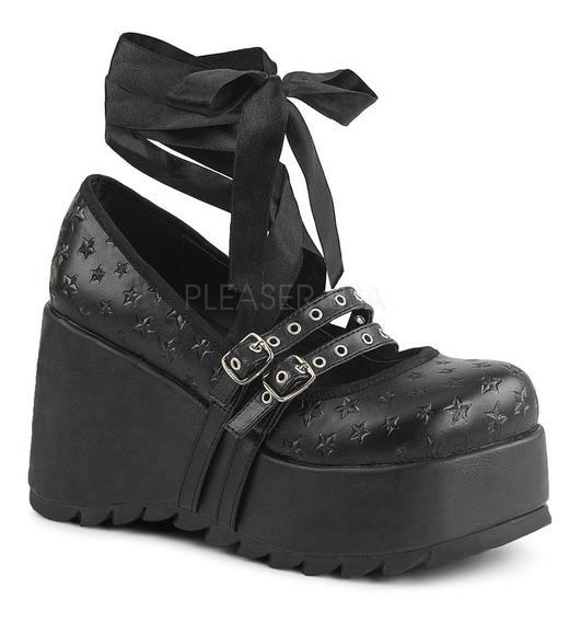 Zapatos Plataforma Scene-20 Demonia Cosplay Emily Strange Dj