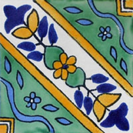 90 Azulejos De Talavera 10x10 - Folk47