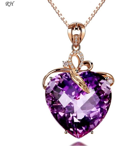 Collar Colgante D Circonita Cúbica De Diamantes Zafiro