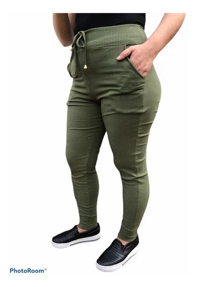 Calça De Ribana Plus Size Tradicional Moda Plus Size