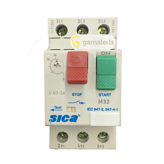 Guardamotor Trifasico Protector Sica 0.63-1.6a