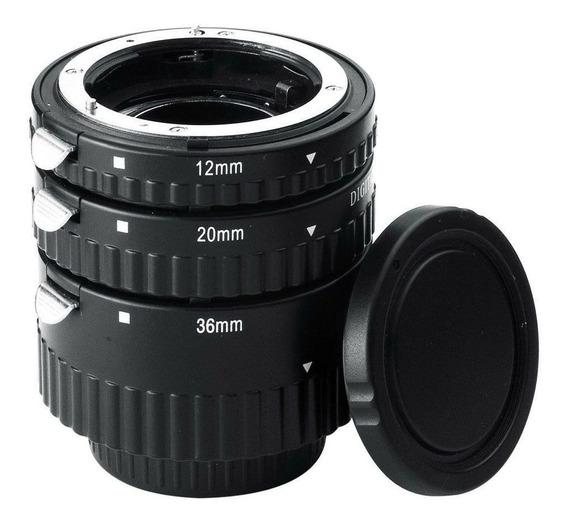 Tubo Extensor P/ Macro Fotografia Auto Foco Câmera Nikon