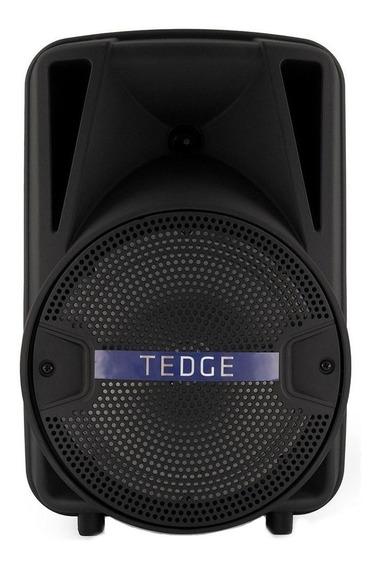 """Caixa de som Tedge 8"""" portátil sem fio Preto"""