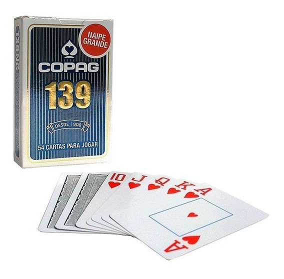 Baralho Copag 139 Naipe Grande Azul Truco Caxeta 21 Poker