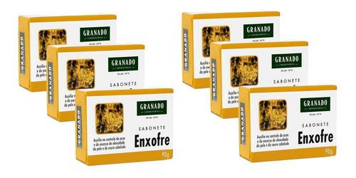 Combo Sabonete Granado Enxofre 90g 6 Caixas Oferta Espinha