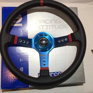 Volante Deportivo Sparco De Aluminio Azul Racing Jdm Tuning