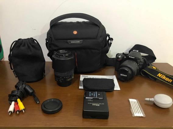 Nikon D5200 (7662 Cliques) + Kit Com Duas Lentes E Outros