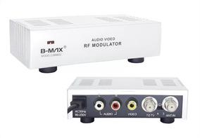 Modulador Rca Áudio Vídeo Para Rf Bivolt Conversor Mini