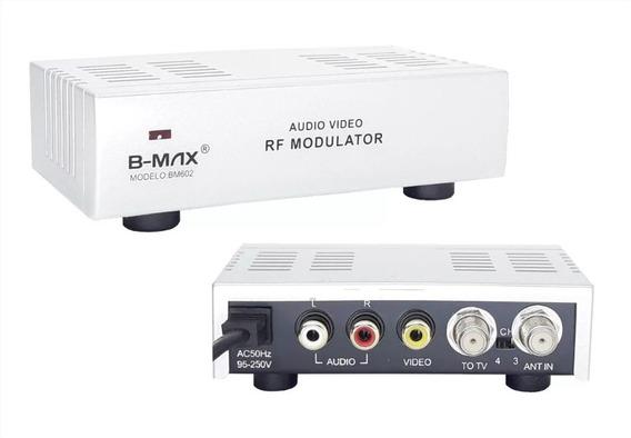 Modulador Rca Áudio Vídeo Para Rf Bivolt Conversor Mini + Nf