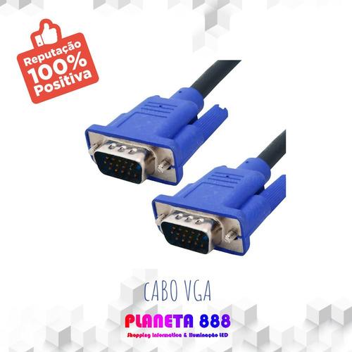 Cabo Vga Para Monitor 10m Vga X Vga Promoção Atacado Vga 10