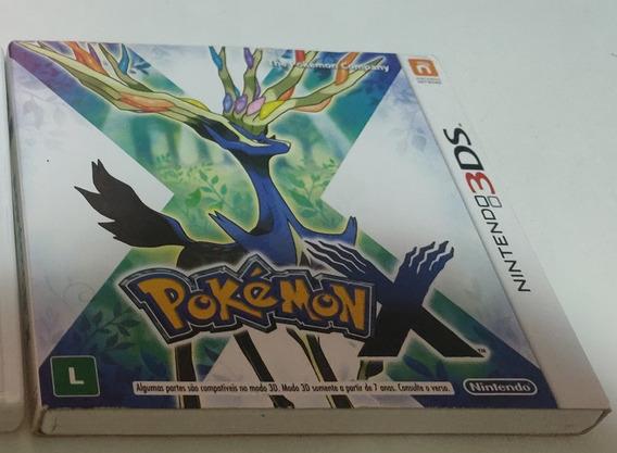 Pokemon X - 3ds Nacional Com Luva Midia Fisica Original