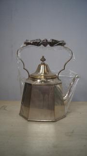Antiga Chaleira Banhado Prata 90 Café Chá Decoração Cozinha