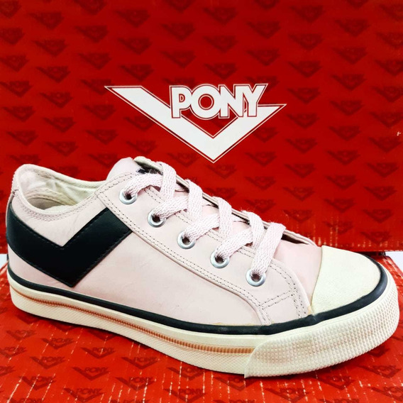 Zapatillas Pony Shooter Low Leather Rosa