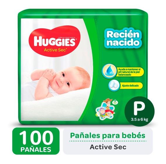 Pañales Huggies Active Sec P Promopack X 50 Pack X 2