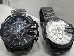 2 Relógio Eco Time 100% Funcional Caixa Alta Lindos