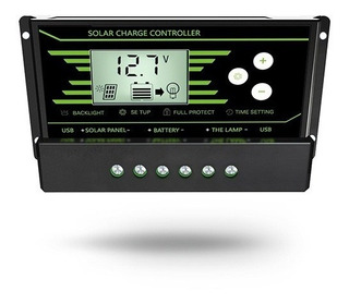 Controlador 30a Regulador 30amp P Panel Solar Bateria 12/24v