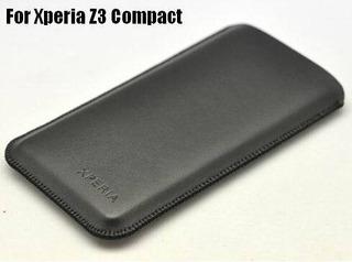 Capa Luva Couro Pu Sony Xperia Z3 Compact