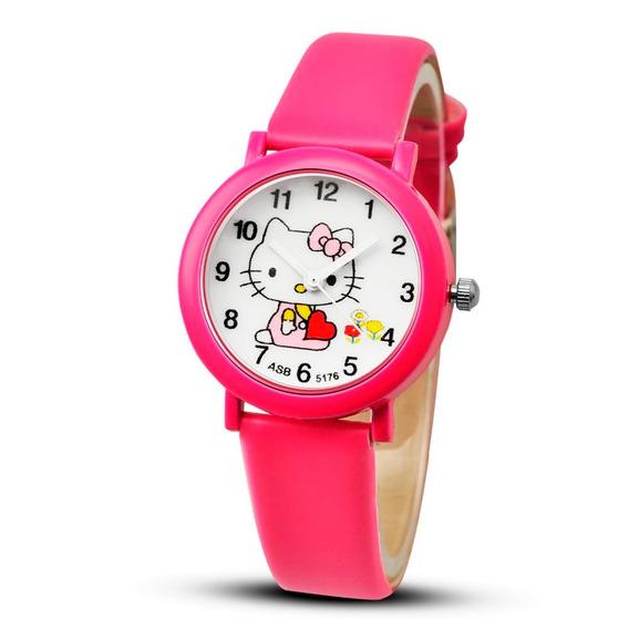 Relógio Infantil Pulso Hello Kitty Quartzo Montre Enfant