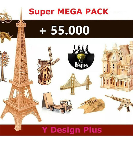 Mega Pack 55.000+ Vectores De Corte Láser Dxf Cdr 3d