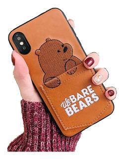 Funda Case iPhone 6 7 8 Plus X Xs Xsmax Xr We Bare Bears Oso