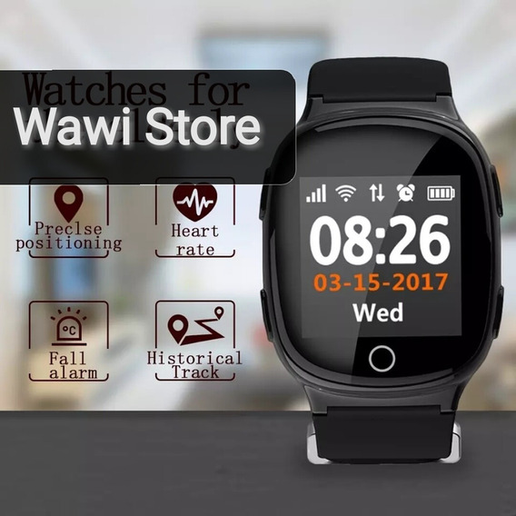 Smart Watch Wd100 Adulto M Gps Sos Heart Rate Pantalla Touch