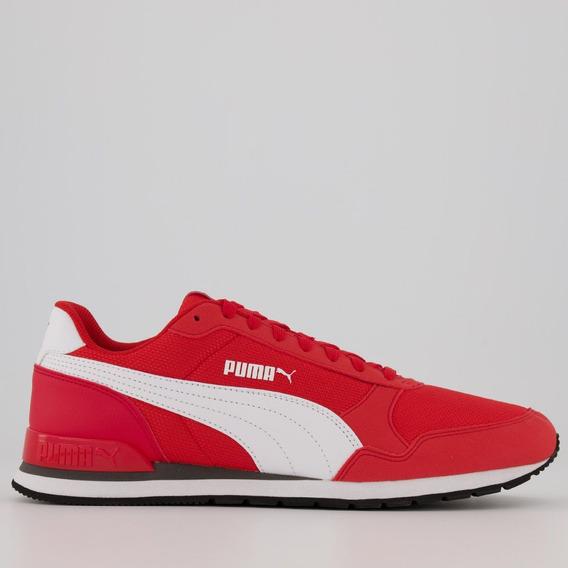 Tênis Puma St Runner V2 Mesh Vermelho